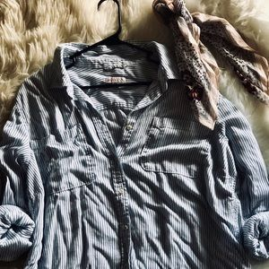 Target Merona Stripped Button Down
